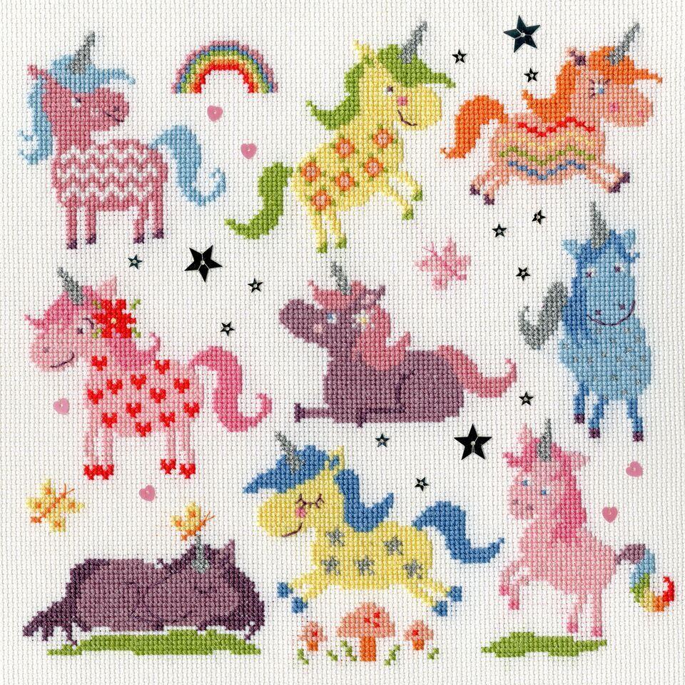 Sightly Dotty Unicorns - Bothy Threads