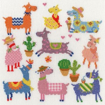 Sightly Dotty Llamas - Bothy Threads