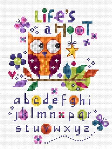 Life's A Hoot Cross Stitch Kit