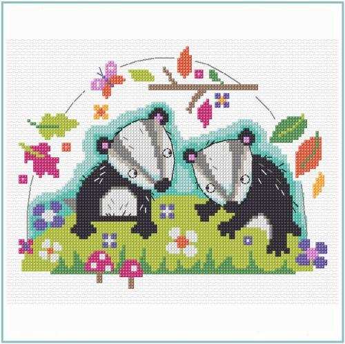 Badger Cross Stitch Kit