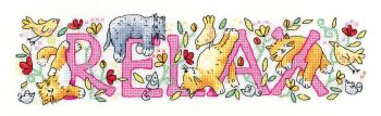 Relax - Cat Cross Stitch - Heritage Crafts