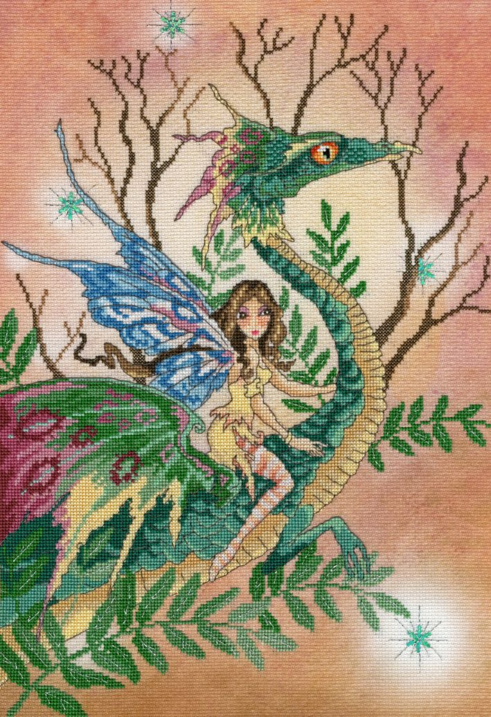 Dragon Fae Fairy - Enchanted Series - Bothy Threads Cross Stitch
