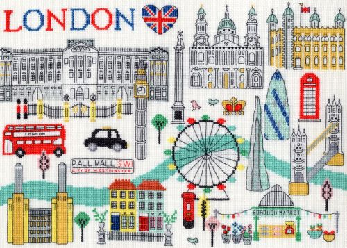 Love London Cross Stitch - Bothy Threads