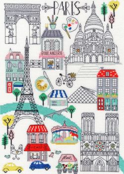 Love Paris Cross Stitch - Bothy Threads