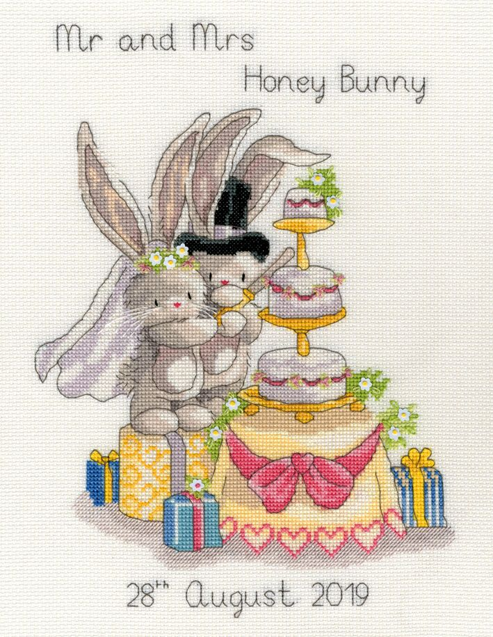 Cutting The Cake Wedding Sampler cross stitch kit (Bothy Threads).
