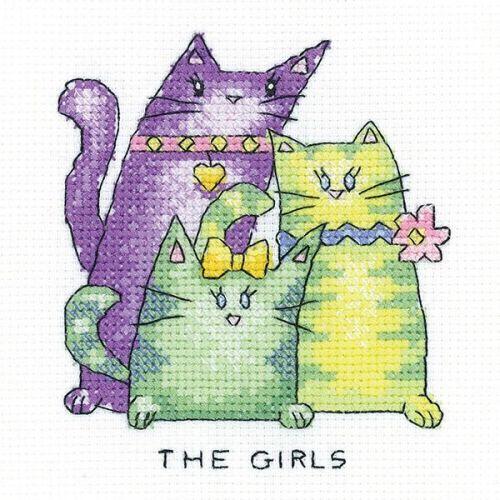 The Girls - Simply Heritage Cat Cross Stitch