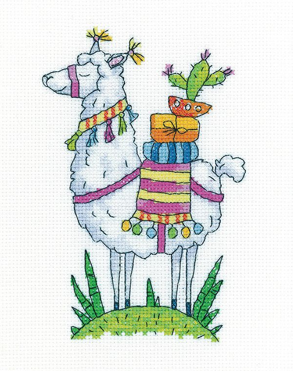 Llama Cross Stitch - Heritage Crafts