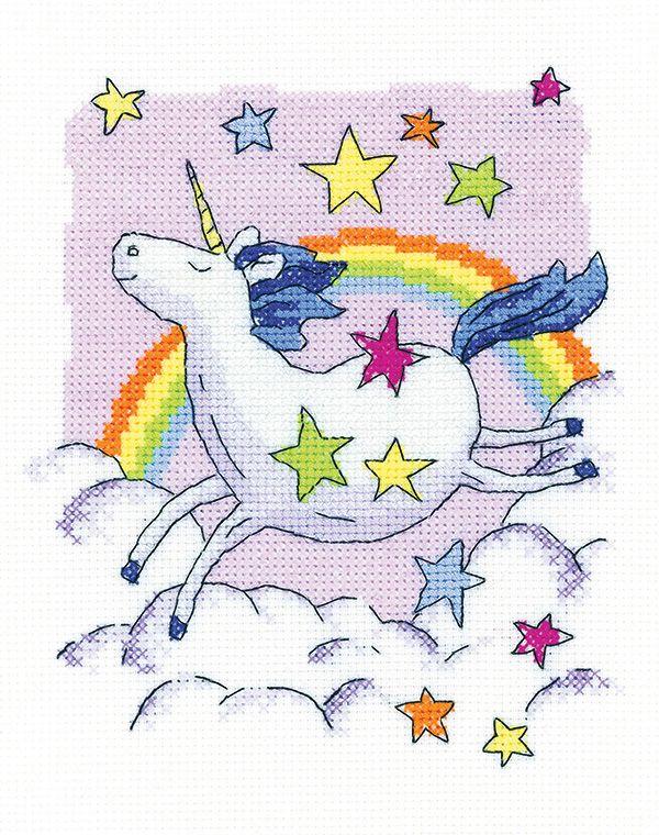 Unicorn Cross Stitch - Heritage Crafts