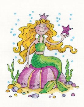 Mermaid Cross Stitch - Heritage Crafts