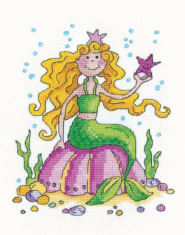 Mermaid Cross Stitch - Heritage Crafts