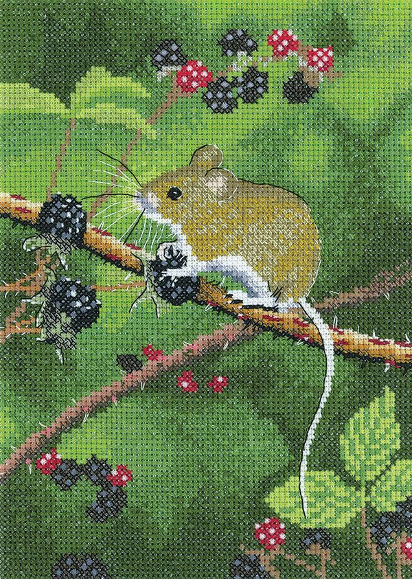 Woodmouse Cross Stitch - Nigel Artingstall