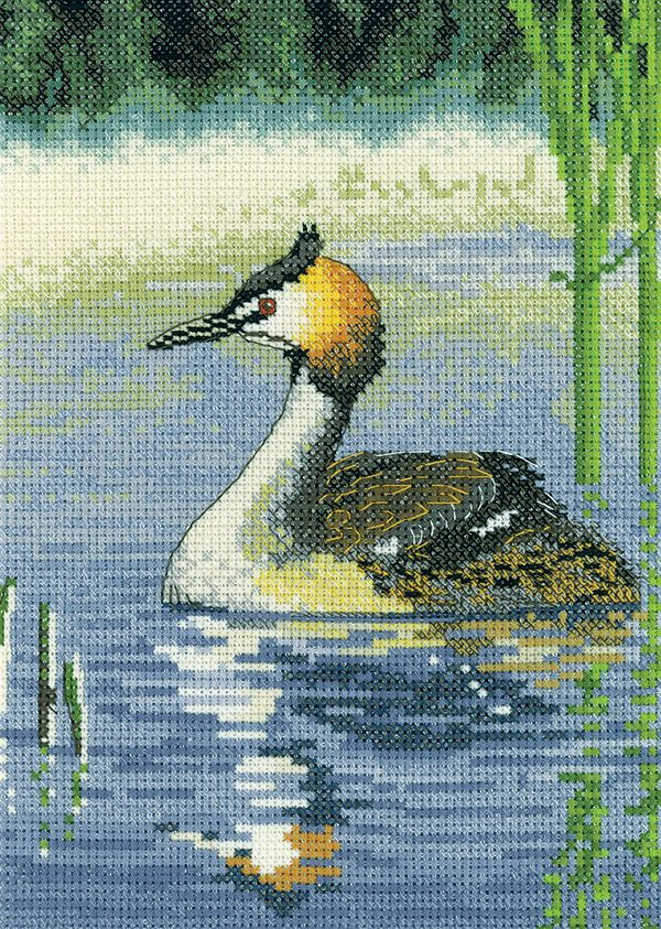 Grebe Cross Stitch - Nigel Artingstall