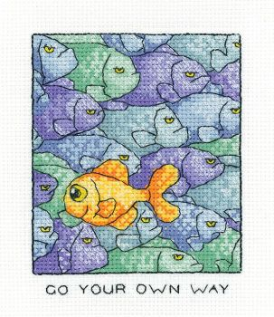 On Your Own Way - Simply Heritage Fish Cross Stitch