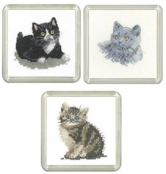 Set of 3 Cat Coaster Kits