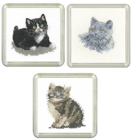 Set of 3 Cat Coaster Kits