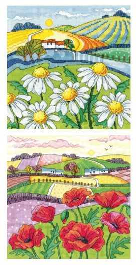 Daisy and Poppy Landscape - Heritage Crafts