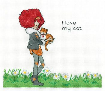 Lavender Lister Cross Stitch - My Cat