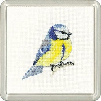 Blue Tit Coaster Kit - Heritage Crafts