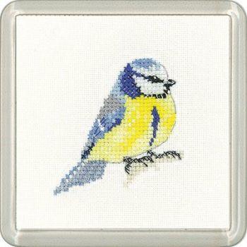 Blue Tit Coaster Kit - Heritage Crafts
