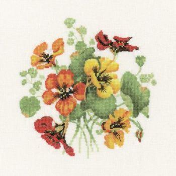 Nasturtium Posy - Valerie Pfeiffer Floral Cross Stitch