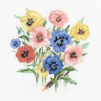 Pansy Posy - Valerie Pfeiffer Floral Cross Stitch