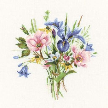 Wild Flower Posy - Valerie Pfeiffer Floral Cross Stitch
