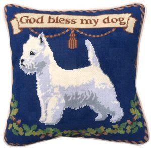 Westie Dog Tapestry Kit (Plain Canvas)