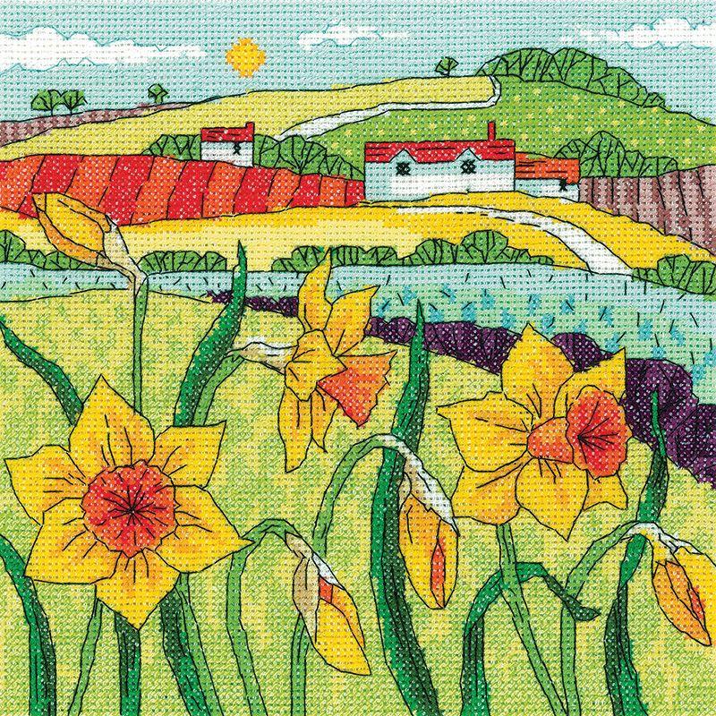 Daffodils Landscape - Heritage Crafts