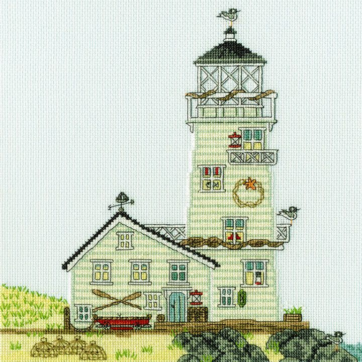 The Lighthouse - New England cross stitch kit by Bothy Threads