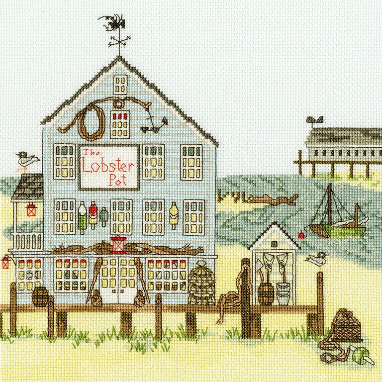 The Lobster Pot - New England - Bothy Threads cross stitch