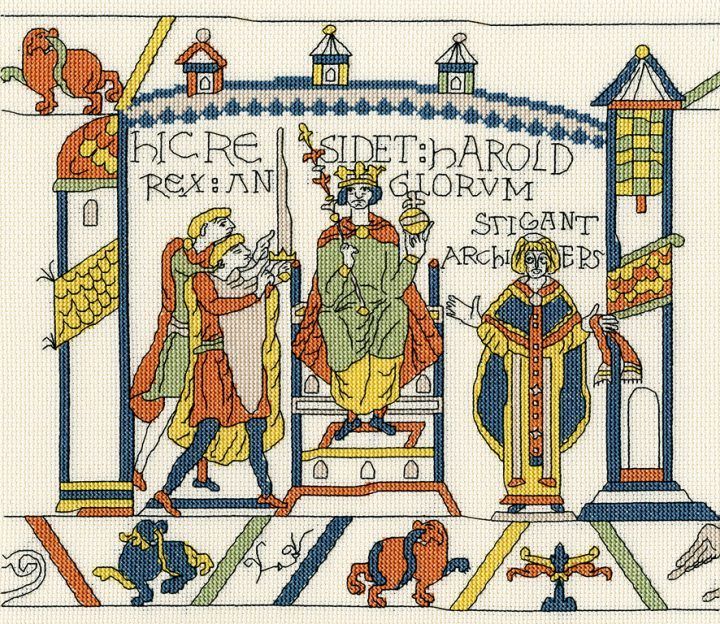 The Coronation - Bayeux Tapestry Cross Stitch