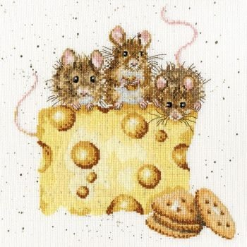 Crackers About Cheese Cross Stitch - Hannah Dale