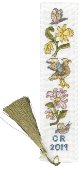 Daffodil and Honeysuckle Bookmark