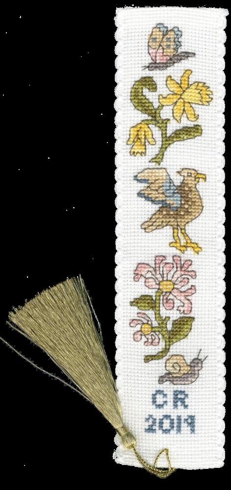 Daffodil and Honeysuckle Bookmark