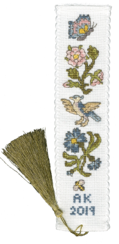 Rose and Cornflower Bookmark