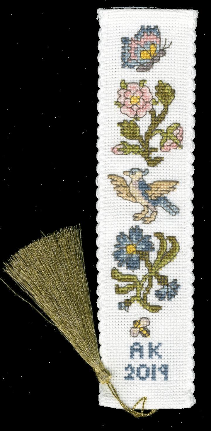 Rose and Cornflower Bookmark