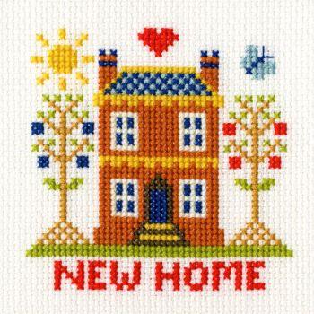 New Home Cross Stitch Card