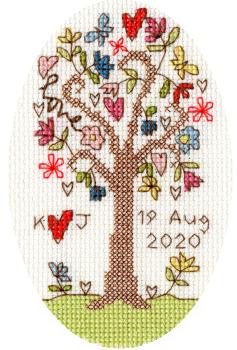 Sweet Tree Cross Stitch Card