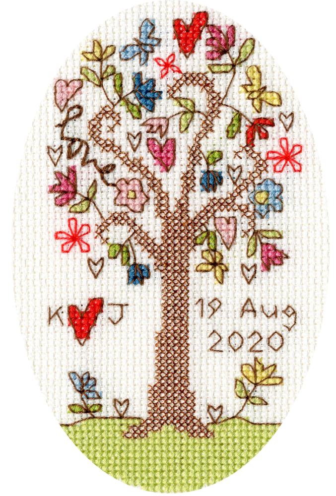 Sweet Tree Cross Stitch Card