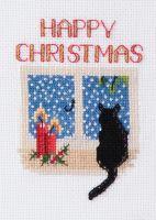 Christmas Cat - Christmas Card
