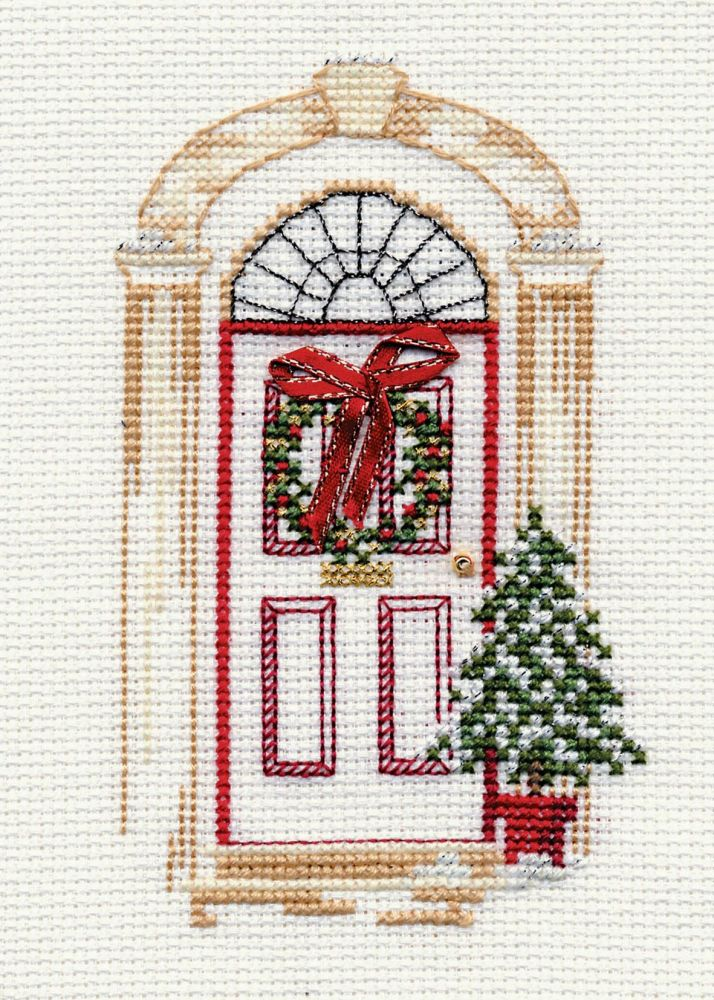 Christmas Door - Christmas Card
