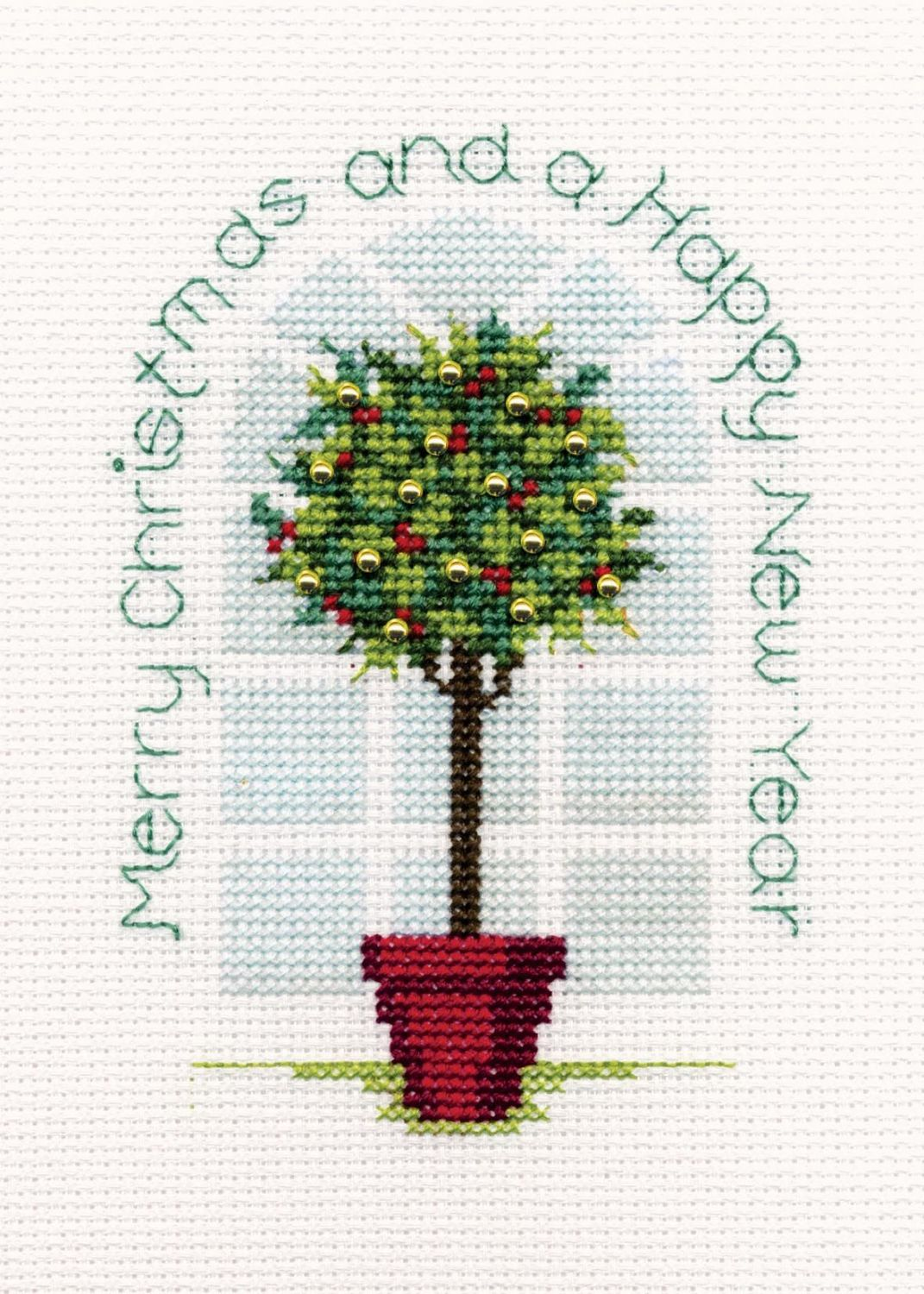 Holly Tree - Christmas Card