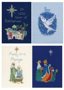 Religious Christmas Cards - Set of 4