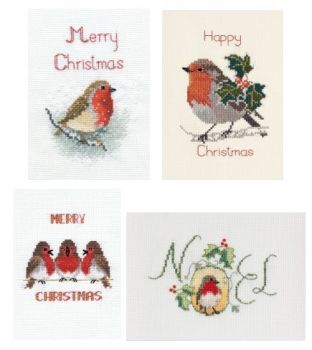 Robin Christmas Cards - Set of 4
