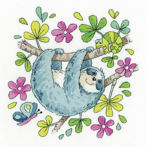 Sloth Cross Stitch - Heritage Crafts