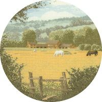 Buttercup Meadow - John Clayton Circles Cross Stitch