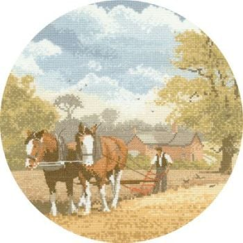 Team Work - John Clayton Circles Cross Stitch