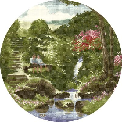 Two's Company - John Clayton Circles Cross Stitch