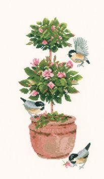 Topiary Rose - Valerie Pfeiffer Cross Stitch
