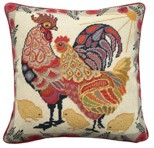 Painted Chickens Tapestry Kit